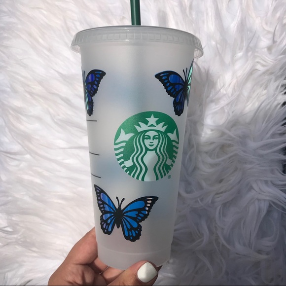 Butterflies starbucks cup Butterfly starbucks cup personalized starbucks cup
